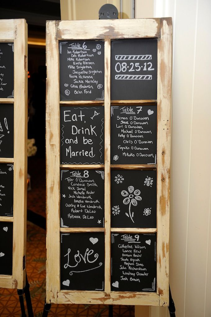 Rustic Wedding Seating Plan