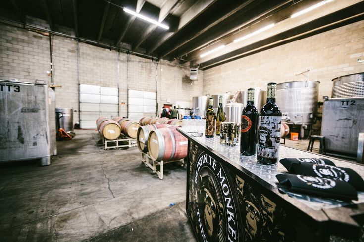 Urban winery The Infinite Monkey Theorem crushes and processes grapes from a Denver back alley.