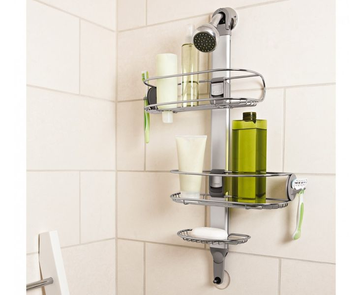 Contemporary Stainless Steel Shower Caddy