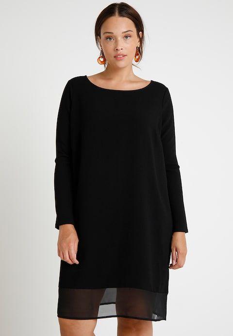 Only Carmakoma Carcucumper Dress Freizeitkleid Black Zalando De Plus Size Fashion Curvy Fashion Size Fashion