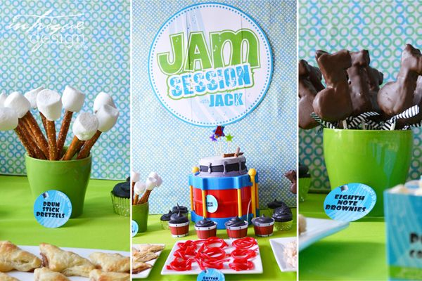 I just like the pretzel/marshmallow drum sticks- Fresh beat party idea