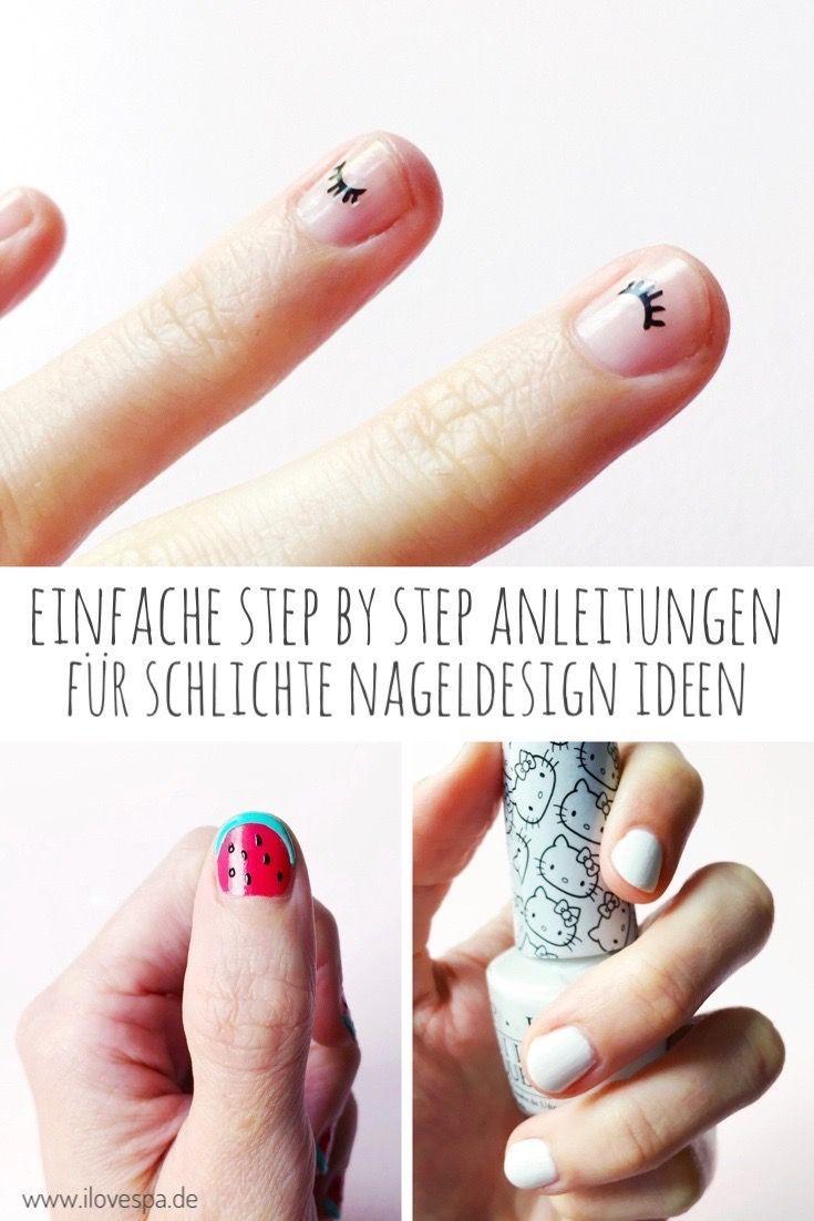 Hier findet ihr einfache Step by Step Anleitungen für minimalistisches Nageldesign / schlichtes Nageldesign  #nageldesign #nagellack #nagelkunst #min…