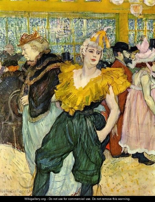 At the Moulin Rouge: The Clowness Cha-U-Kao - Henri De Toulouse-Lautrec