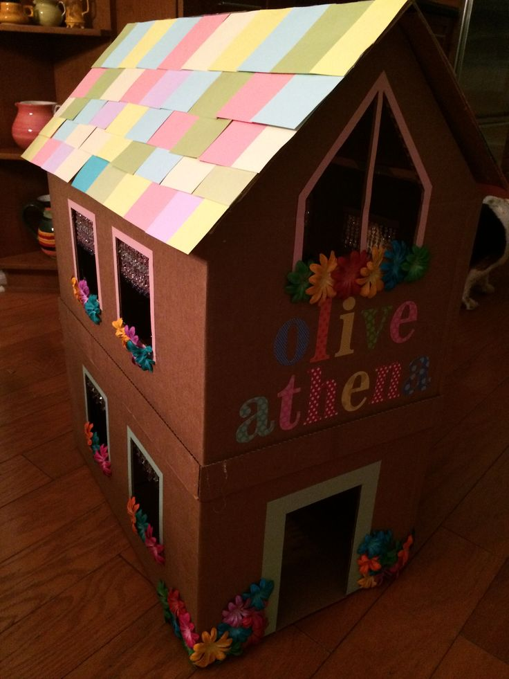 1000 Ideas About Cardboard Cat House On Pinterest