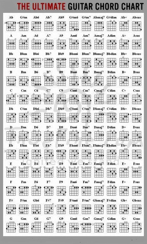 Every Guitar Chord Youll Ever Need In One Chart Rocking Fundas