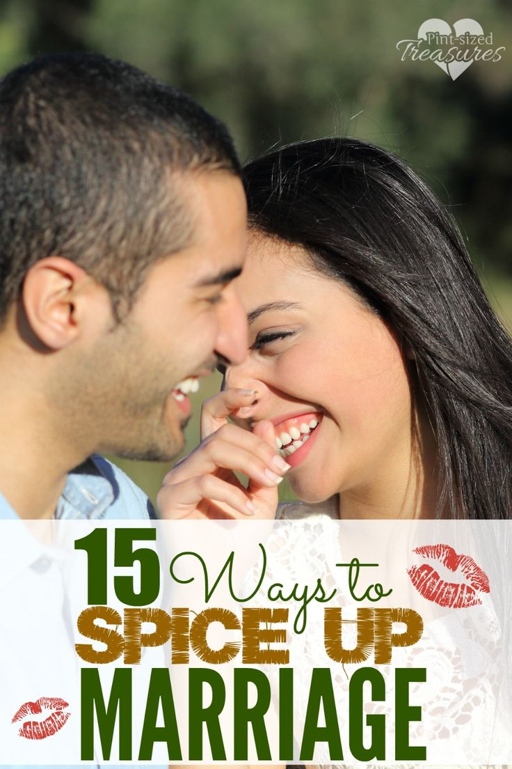 Does your marriage need romance, passion and spice? Here are 15 ways to spice things up! www.pintsizedtreasures.com
