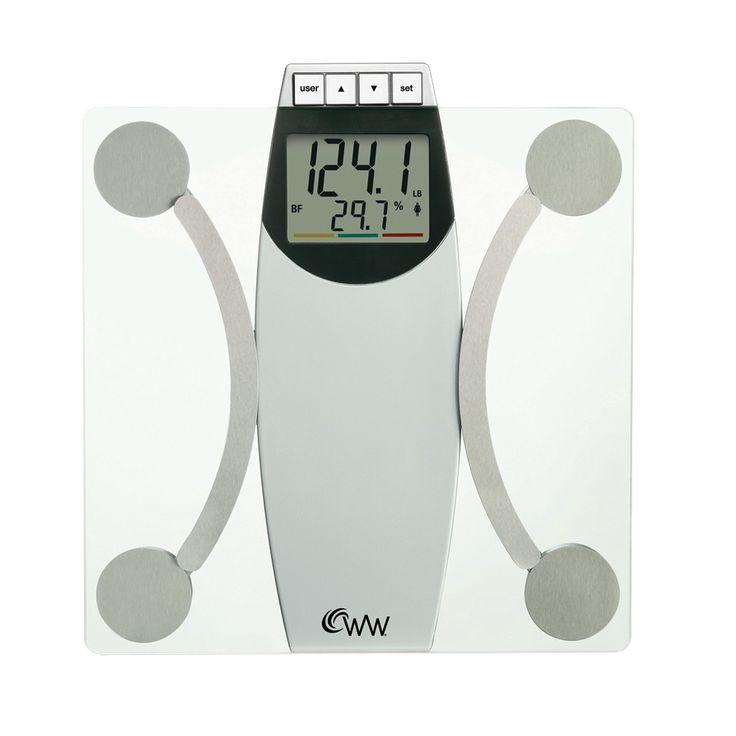 Weight Watchers Body Analysis Scale - White/Chrome