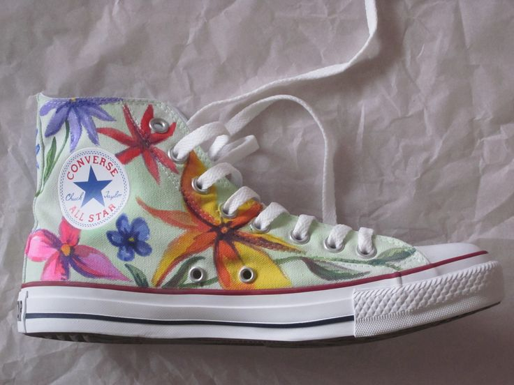 Hand Painted Original Chuck Taylor Converse Shoes by LeniLove, $249.00