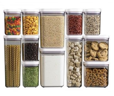 Oxo Good Grips Pop Containers, Set of 12 - contemporary - food containers and storage - Amazon