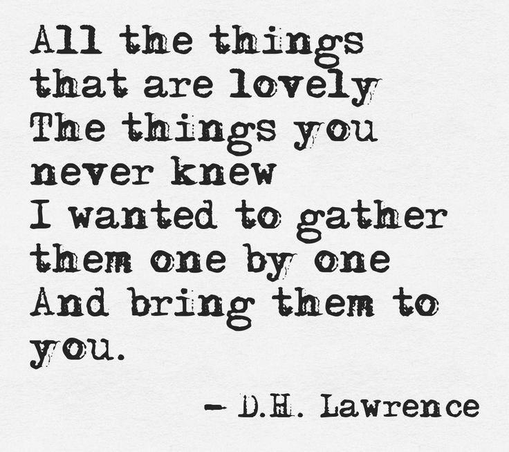 ¤ Poet Ponderings ¤ poetry, quotes & haiku - D.H. Lawrence | All the things that are lovely