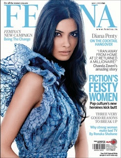 Diana Penty on The Cover of Femina Magazine - May 2013 Issue.
