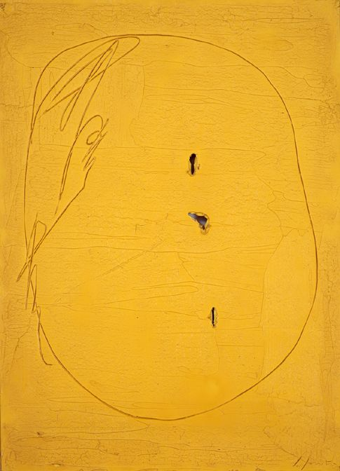 Lucio Fontana Concetto spaziale, 1961 oil on canvas