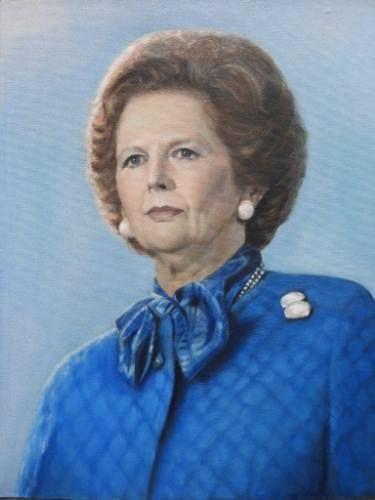 "Saatchi Art Artist Tatiana Wilson; Painting, ""Portrait of Margaret Thatcher"" #art"