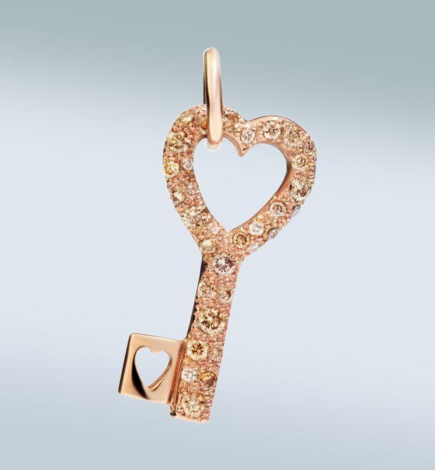 DODO | Pendenti | chiave con brillanti brown Donna - Pendenti Donna su Dodo E-Store