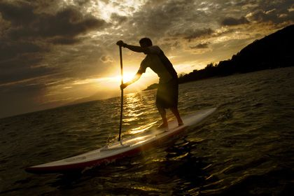 learn to paddle-board
