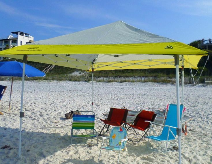 Beach canopy tents are surprisingly easy to put up and take down, especially if you have one other person to assist you.