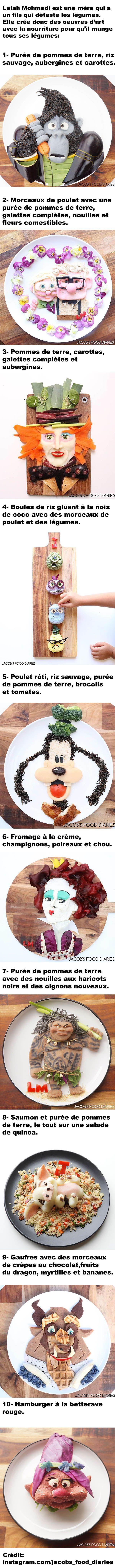 Cette mère crée des oeuvres d'art avec la nourriture car son fils ne veut pas manger ses légumes