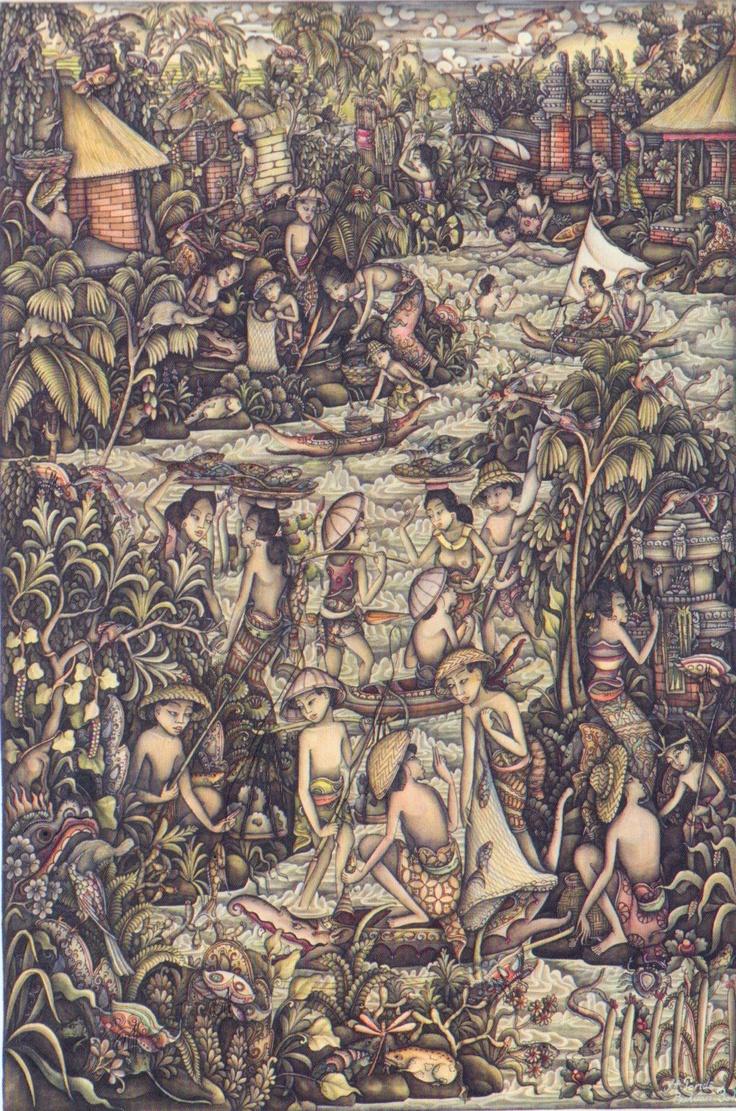 I Ketut Pande. Balinese/Batuan painting
