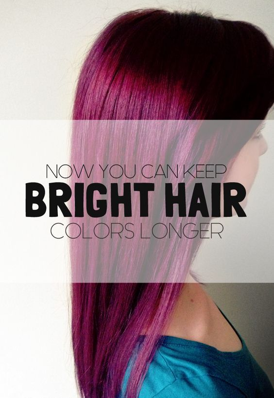 Now You Can Keep Bright Hair Colors Longer If you want your hair looking as good as is did the day that you first dyed it, then you'll love the tips in this post. Every person who loves bright hair colors are on an never ending quest to stop the color from fading, and will do anything to prolong their vivid and unique hair color as long as they can without having to visit a salon or touch up the dye.