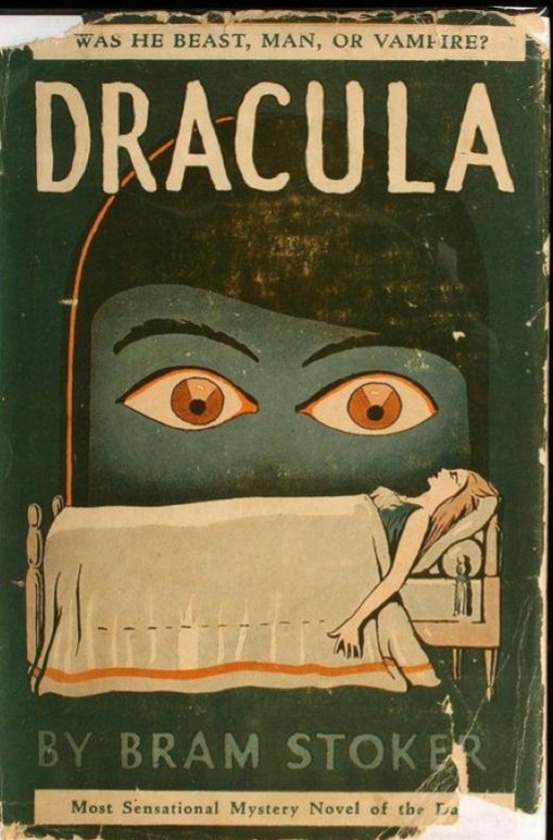 Book cover Dracula by Bram Stoker.