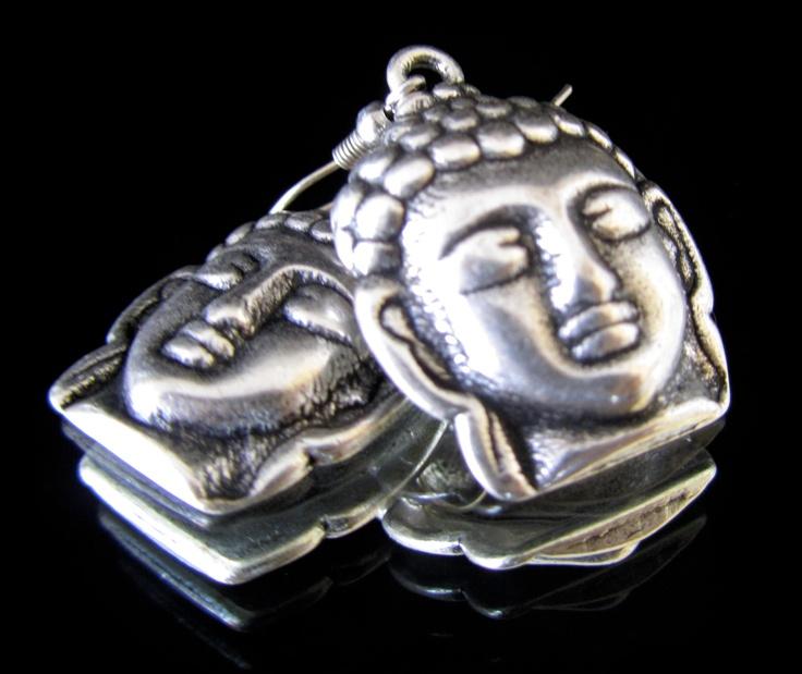 Silver Buddha's earrings