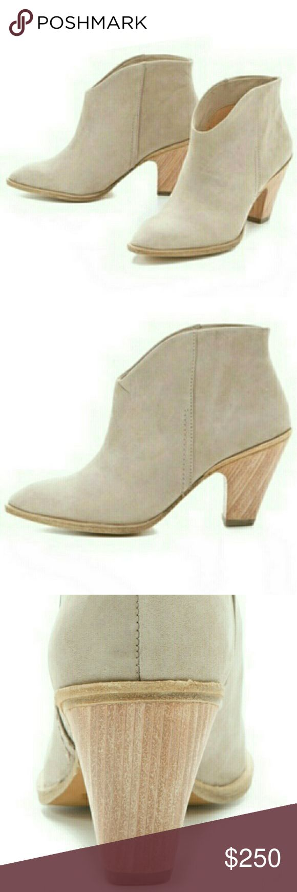 BEAUTIFUL Sigerson Morrison Belle Suede Booties New Sigerson Morrison Belle cream suede ankle booties. Flawless. These are some seriously killer boots! Size US 10. Photos available if you're interested in making them yours. Thanks! Sigerson Morrison Shoes Ankle Boots & Booties