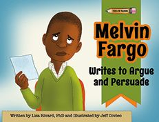 Lisa Rivard, When is arguing the right thing to do? When your teacher assigns you a homework assignment that requires it, of course! But persuading can be just as much fun. When Melvin Fargo finds out he has to argue as well as persuade a hot topic, he realizes that he has to use more than just his opinions to write his essays.