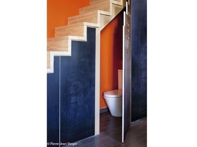 1000 id es sur le th me salle de bains sous les escaliers. Black Bedroom Furniture Sets. Home Design Ideas