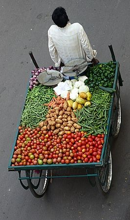 Vegetable market on wheels