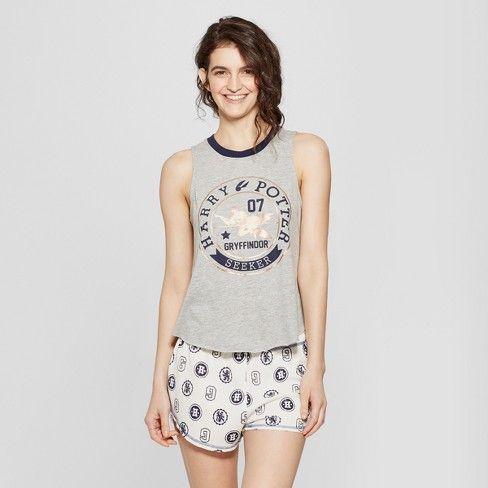 4d46280af1 Women s Harry Potter Tank Boxer Pajama Set   Target