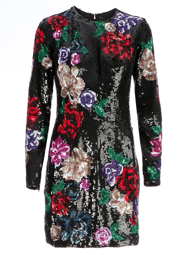 Zuhair Murad Floral Sequinned Dress