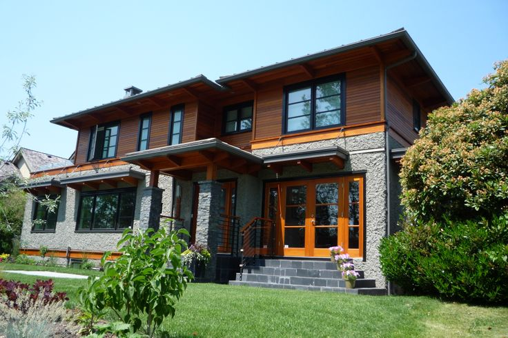 Modern and sleek design.  Exterior staining with Sikkens Cetol 1 and Cetol 23 in Vancouver.