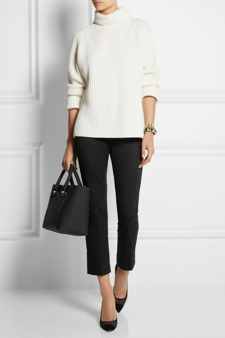 Victoria Beckham Denim|Chino cropped stretch-cotton straight-leg pants|NET-A-PORTER.COM