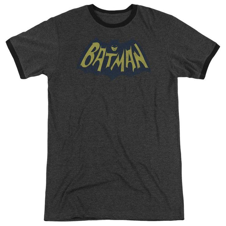 Batman - Show Bat Logo Adult Ringer T- Shirt
