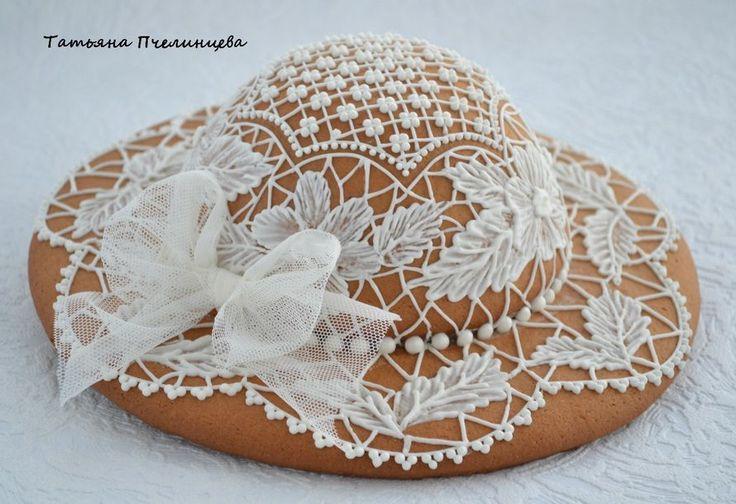 Пряничная шляпка, диаметр основания 25 см - фото 5692538 Торты, пирожные и пряники от Татьяны Пчелинцевой