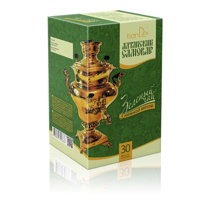 Алтайский самовар Тианде - Зеленый чай с мятой
