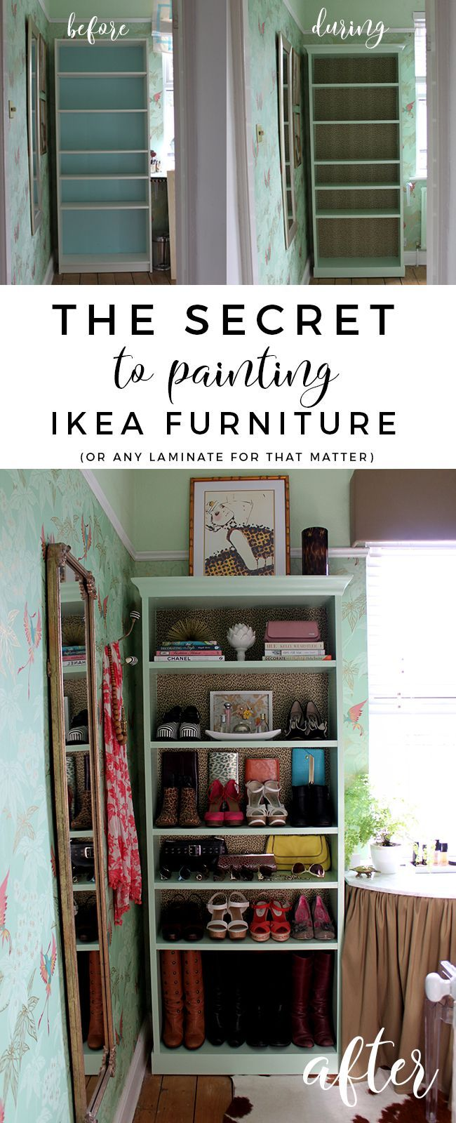 This'll be helpful. I have my big black IKEA bookcase and a smaller floating grey nightstand that'd need to be painted.