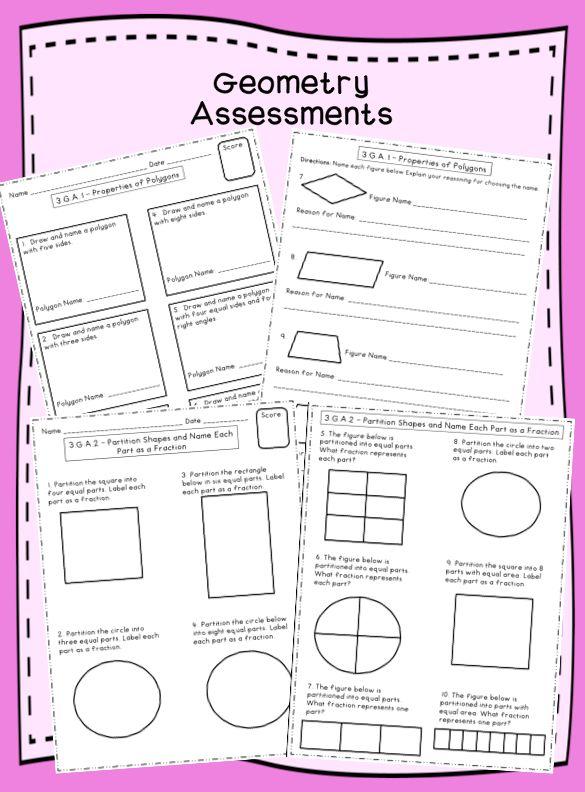 Geometry Practice for Third Grade Common Core