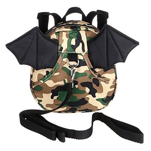 Safe Baby Harness Toddler Kids Safety Child Camouflage Bat Back Pack Strap Rein #SafeBabyHarness