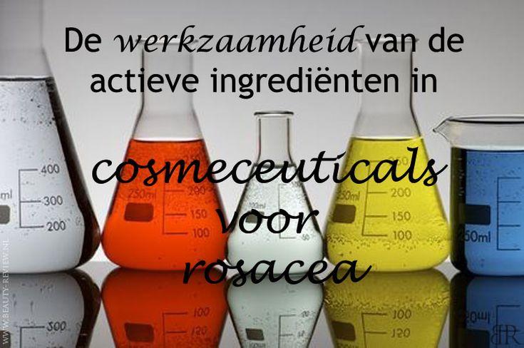 De werkzaamheid van cosmetica-ingrediënten ontworpen als actieve ingrediënten in cosmeticaproducten voor de verzorging van een huid met rosacea