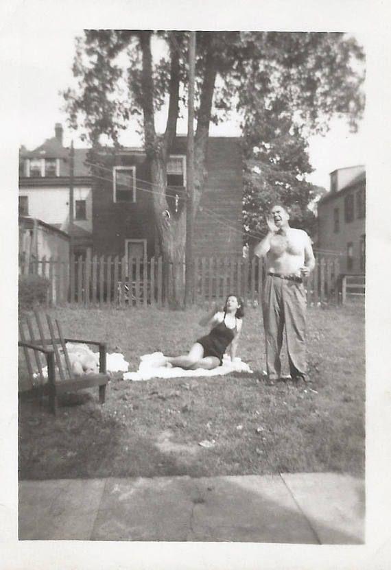 Vintage Photo Hey Joe Over Here Shirtless Man