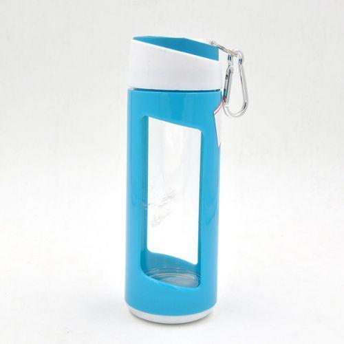 カラビナ付き二重断熱アウトドア携帯ホウケイ酸ガラス360ML,12oz