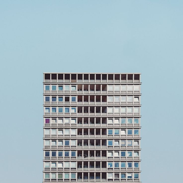 "Part of photographer Malte Brandenburg's fascinating ""Stacked"" series, in which he explores the minimalist post-war architecture surrounding Berlin. The whole series is phenomenal."