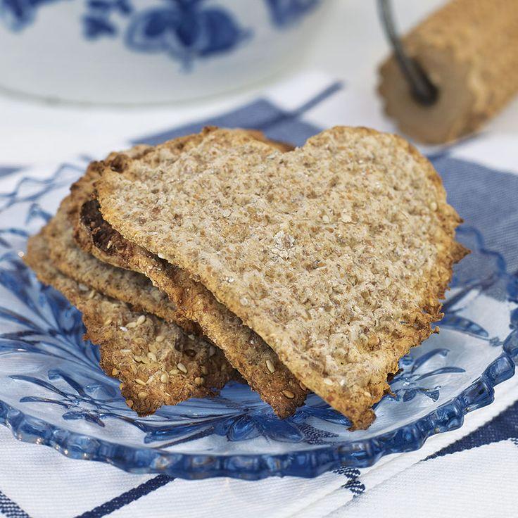 Rustika knäckehjärtan som passar till buffé och frukost.