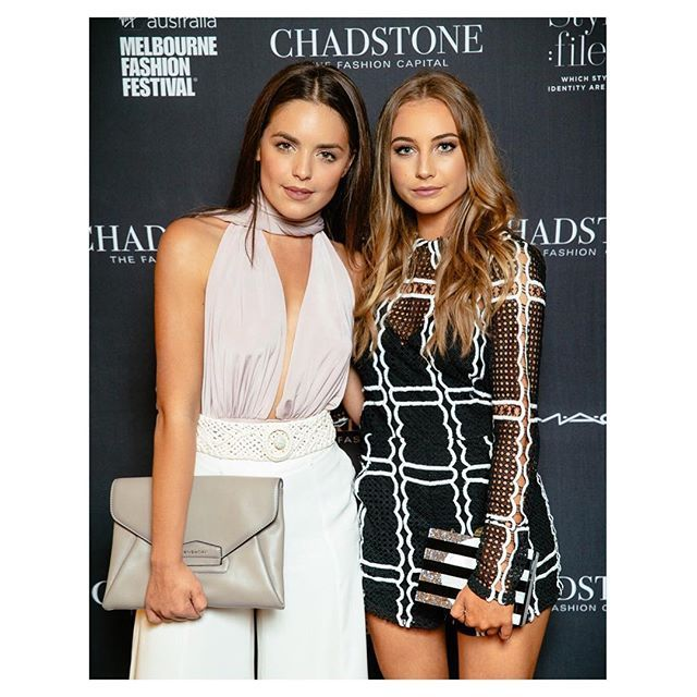 Baby sister on @neighbourstv but slay queen in the real world @mavournee_hazel ❤️ @chadstone_fashion #ChadstoneAW16 #vamff