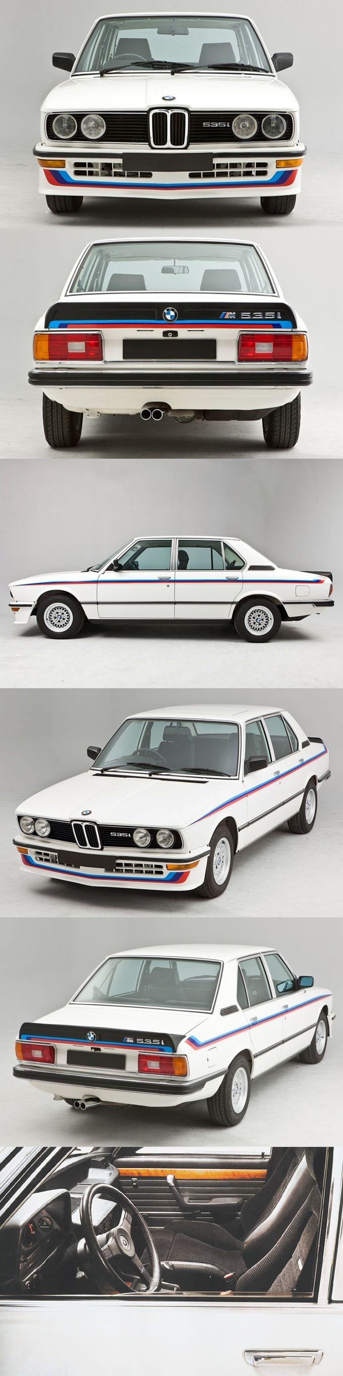1980 BMW M535i / Motorsport / white blue red / Germany