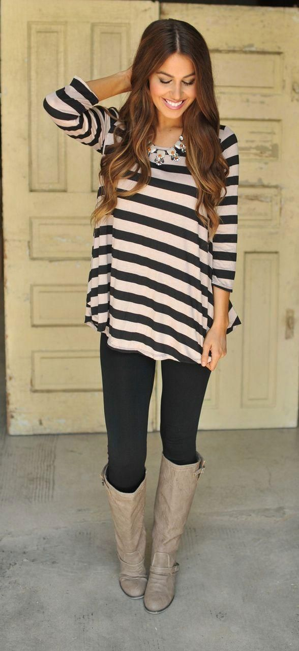 20 Style Tips On How To Wear Leggings (How To Wear Tunic Top)