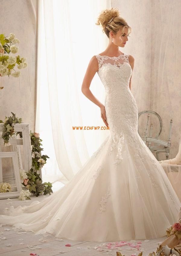 Meerjungfrau-Linie/Mermaid-Stil Glanz & Glamour Reißverschluss Brautkleider 2014