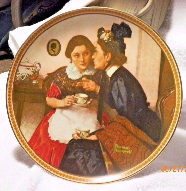 """Norman Rockwell Collector Plate """"Gossiping In The Alcove"""" #NormanRockwell"""
