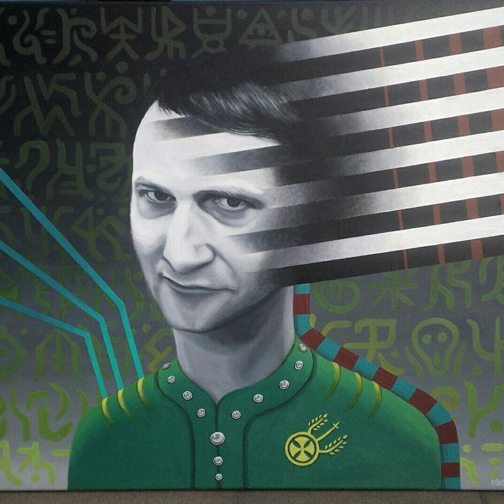 "Franciszek Grzesiak, ""Stan"" 60x70 cm, acrylic on canvas"